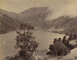 View of Naini Tal Lake, looking north-west from the eastern hills